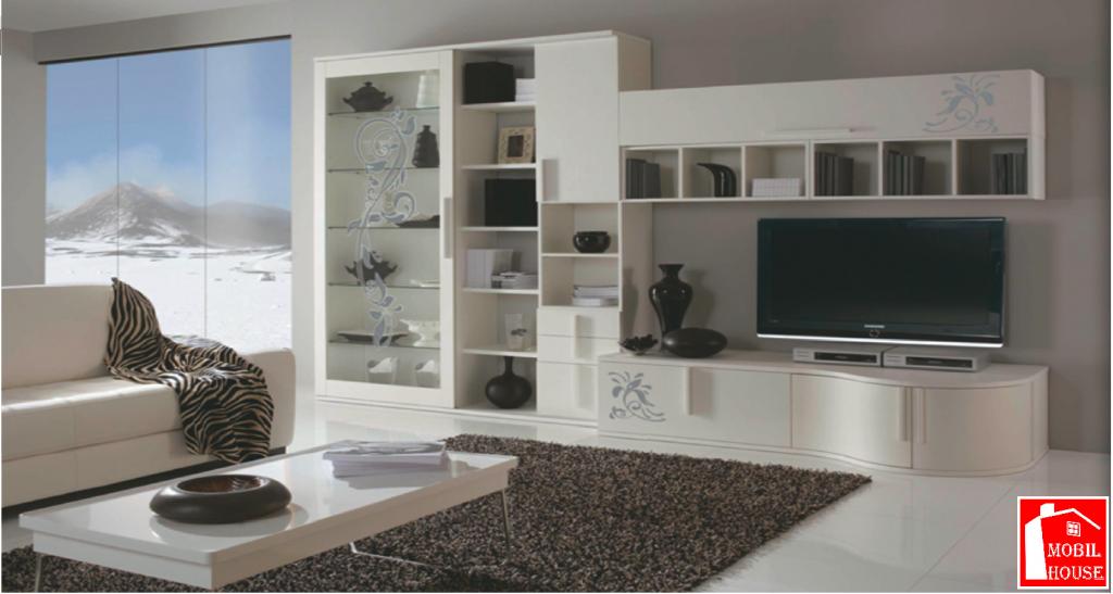 Pareti moderne with pareti moderne parete attrezzata for Pareti attrezzate moderne colorate