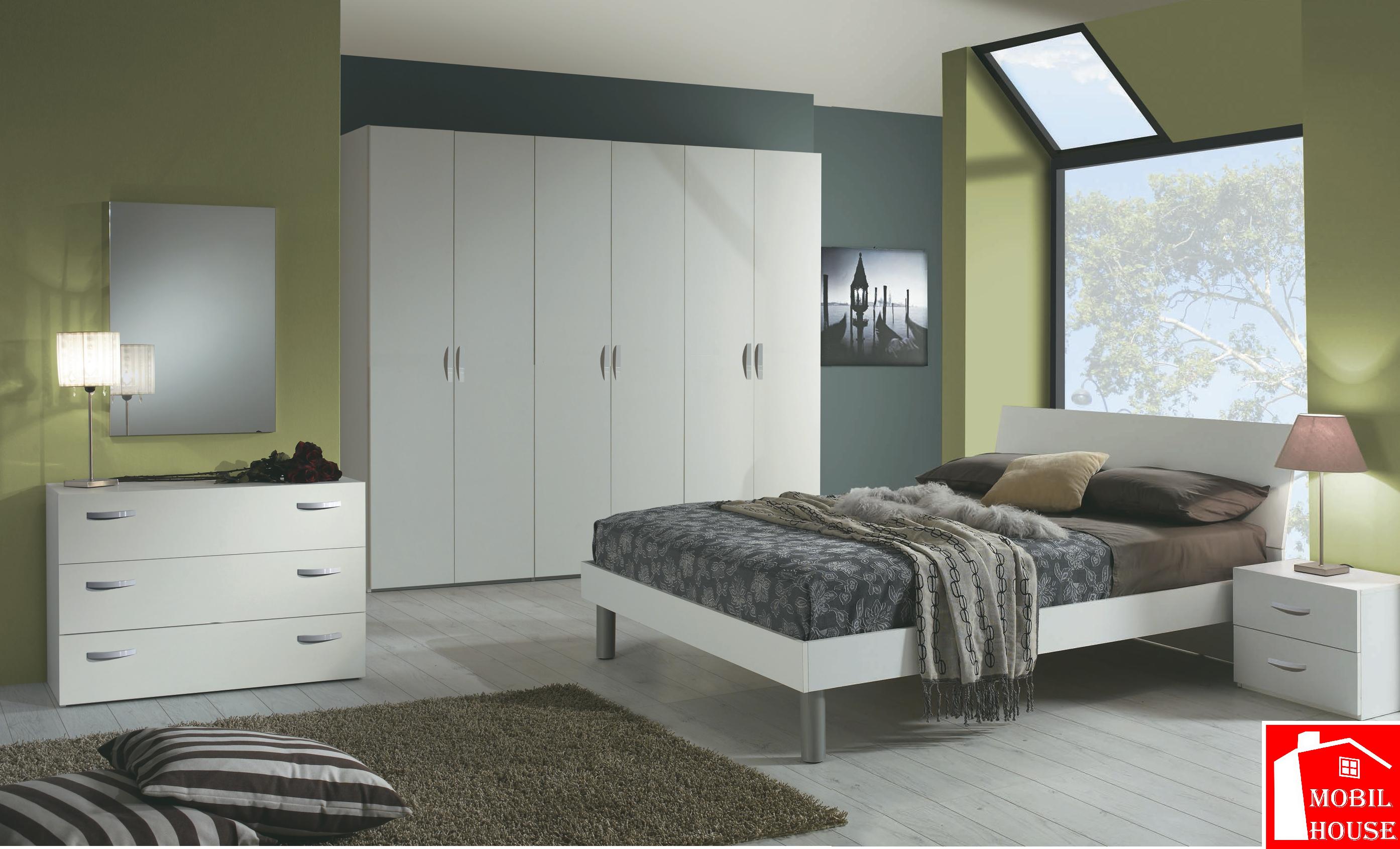 Camera da letto Rosy bianco frassino - MobilHouse Arredamenti